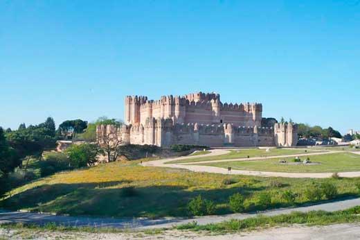 Panorámica del Castillo de Coca, Segovia.