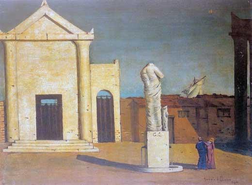 Giorgio de Chirico, Enigma de una tarde de otoño, 1910.