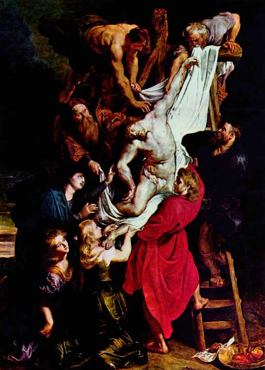 Pedro Pablo Rubens, La Deposición, c. 1612-14, Catedral de Nuestra Señora, Amberes, Bélgica.