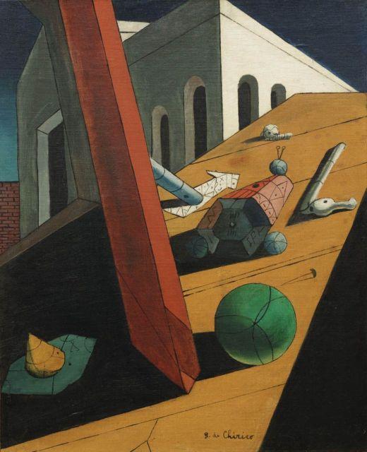 Giorgio de Chirico, El Mal genio de un rey, 1914-15, MoMA, Nueva York.