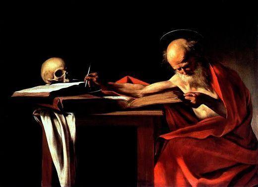 Caravaggio, San Jerónimo escribiendo, 1605, Galería Borghese, Roma