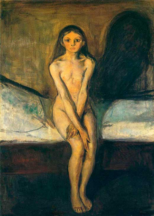 Edvard Munch, Pubertad, 1894, National Gallery, Oslo.