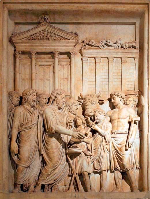 Bajo relieve templo de Júpiter
