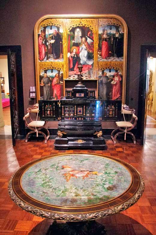 Sala del Museo Poldi Pezzoli.