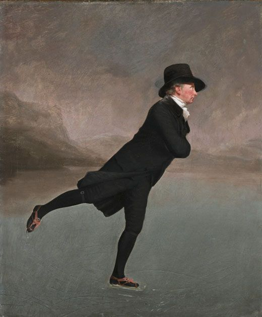El reverendo patinando