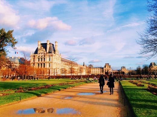 Jardín del Museo del Louvre