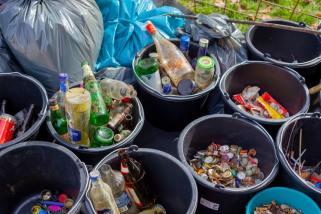 Rubbish Bin Segregated Waste - Bin Liners Cromwell Polythene