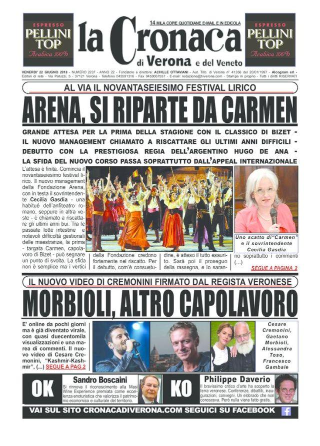 thumbnail of La Cronaca di Verona 22 6 18