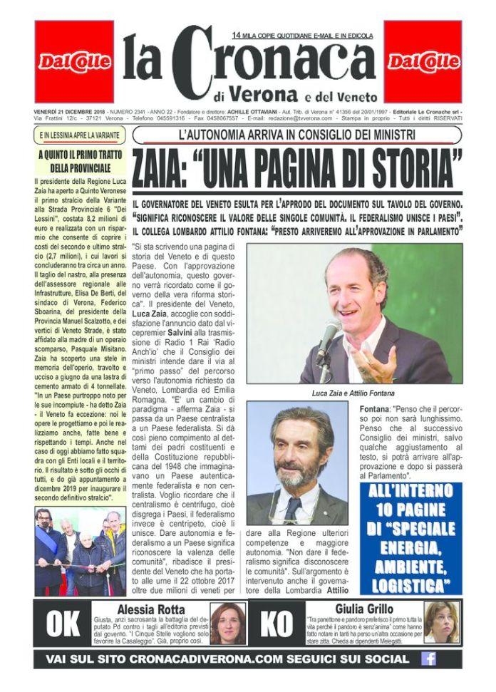 thumbnail of CRONACA 21 DICEMBRE 2018