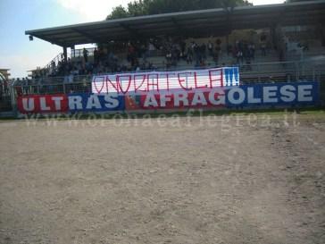 I tifosi dell'Afragolese nello stadio di Cardito