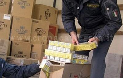 Mille tonnellate di sigarette sequestrate dalla Guardia di Finanza di Pozzuoli
