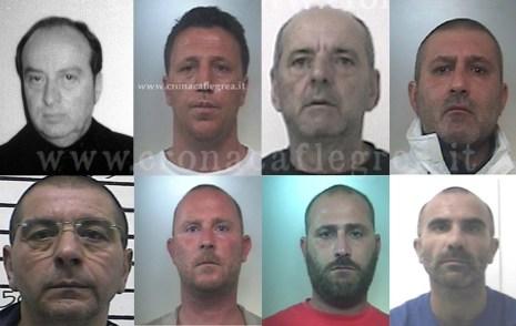 8 dei 9 condannati per estorsione