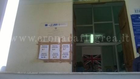 Un seggio elettorale di Bacoli