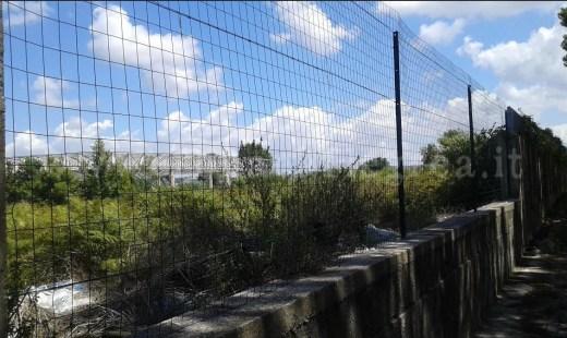 La recinzione installata