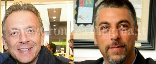 A sinistra il coordinatore del Pd di Quarto, Antonio Iovine. A destra l'assessore alla Viabilità, Andrea Perotti
