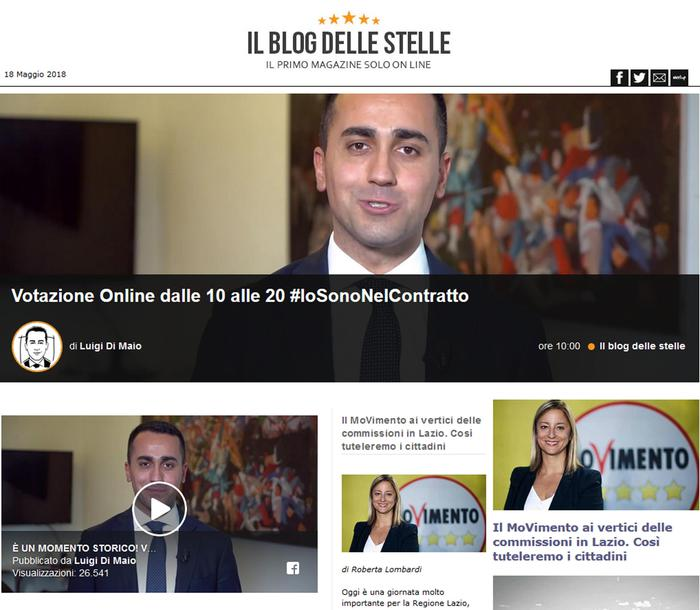 """Lega-M5s, contratto di governo: su Rousseau il voto online. Di Maio: """"Se date ok, lo firmerò"""""""