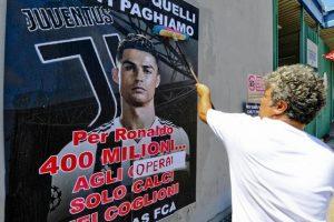 Cristiano Ronaldo alla Juventus e la protesta degli operai Fca: aderiscono allo sciopero solo in 5 su 1700