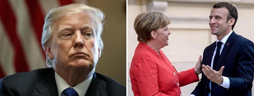 """Merkel e Macron sfidano Trump: """"Sì a un esercito europeo"""". Il presidente Usa: """"Piuttosto paghino la Nato"""""""