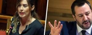 Matteo Salvini e Maria Elena Boschi, saluto con bacio alla cena di Annalisa Chirico
