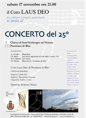 concerto25-e1419591885380 Concerto a Rho (Milano) con la musica di Bach e Mozart Eventi Prima Pagina