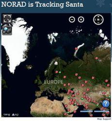 Il radar della difesa aereospaziale di Stati Uniti e Canada rileva la slitta di Babbo Natale