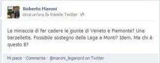 maroni-e1468359170467-324x129 Lega Nord, Roberto Maroni: #machiequestob? fa tendenza su twitter e facebook Piazza Litta Politica Prima Pagina