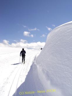 Un muro di 2 metri di neve