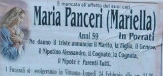 Ossona e Vittuone unite nel cordoglio: ci lascia Mariella Panceri