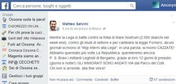 Matteo Salvini domina Facebook e la Lega Nord vola