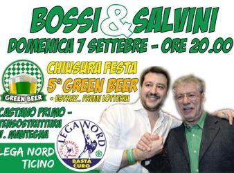 Green Fest: Matteo Salvini alla festa della birra