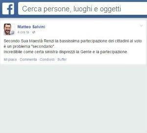 Salvini e la Lega Nord stravincono in Emilia Romagna, ma l'astensione è trasparente