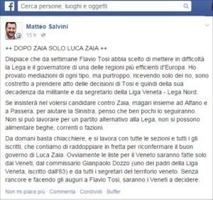 Flavio Tosi lascia la Lega Nord e Matteo Salini ne prende atto
