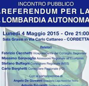 Referendum sulla Lombardia autonoma a Corbetta