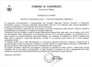 casorezzo-ringraziamenti-324x235 Discarica Casorezzo. Ecco le novità Politica Prima Pagina