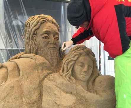 presepe di sabbia magenta
