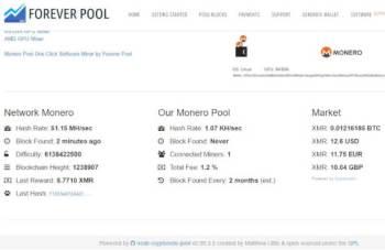 monerominingpool-350x227 Monero mining pool. La nuova frontiera della moneta Economia e lavoro Prima Pagina