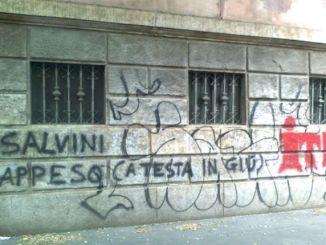 """salviniscrittetenca Minacce di Morte a Matteo Salvini. """"Finirai appeso per i piedi"""" Il mensile di Roberto Colombo Politica Prima Pagina"""