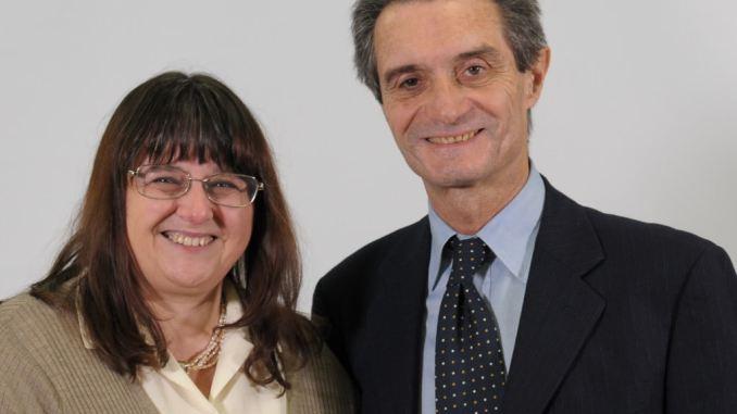 Ilaria Preti di Fontana Presidnete, e Attilio Fontana