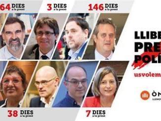 rpigionieri-politici-catalani Catalunya. Il vero problema europeo è in chi comanda Politica Prima Pagina
