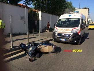 motoambulanza-ZOOM Incidente in via della Valtorta Cronaca Milano