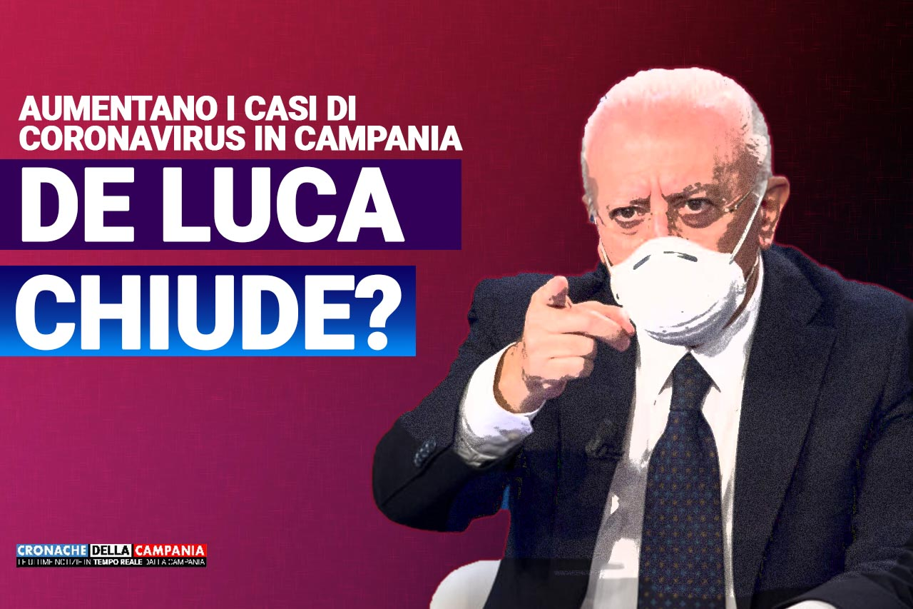 De Luca chiude Campania Locandina FB