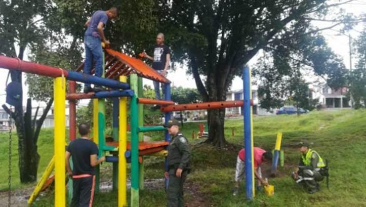 Policía trabaja en pro de los parques como estrategia contra drogadicción