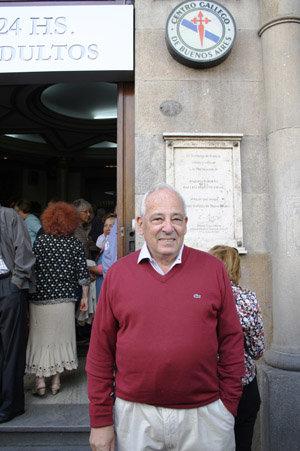 Rafael Osvaldo Méndez, uno de los referentes más importantes del movimiento de socios 'Por un nuevo Centro Gallego'.