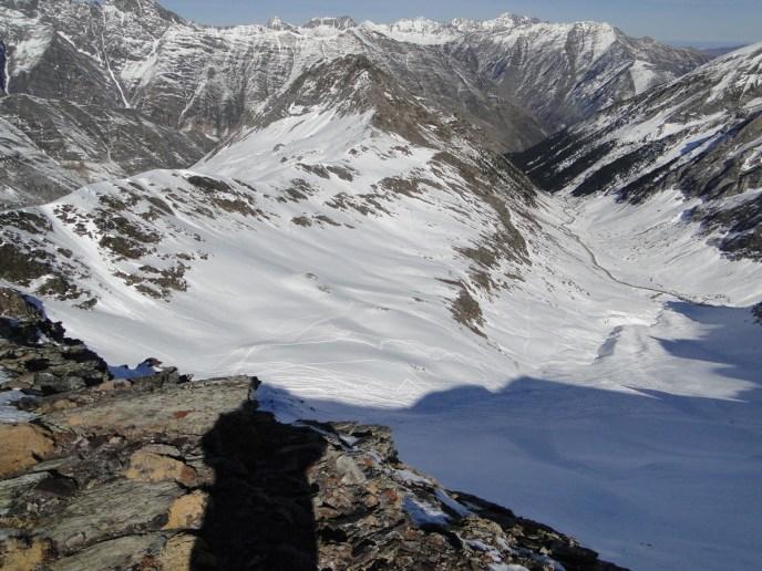 valle de la aiguillette, desde el pico del mismo nombre
