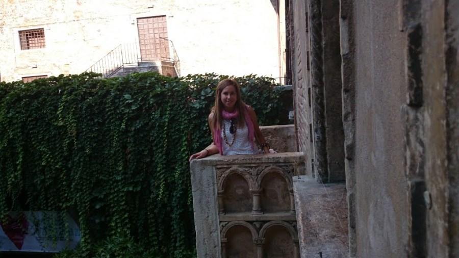 En El Balcón de Julieta. Qué ver en Verona en un día.