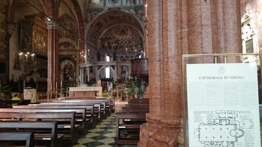 Interior de la Catedral. Qué ver en Verona en un día.