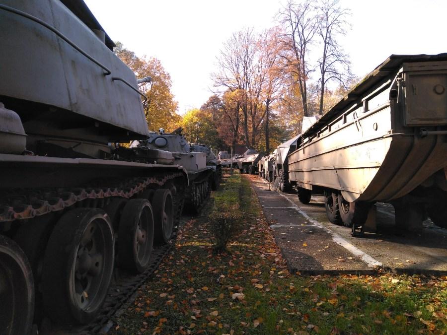 Tanques en el Museo Militar.