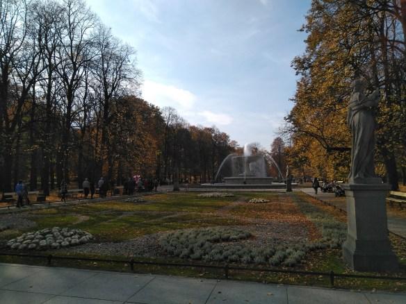 Qué ver en Varsovia en un día. Parque Saski.