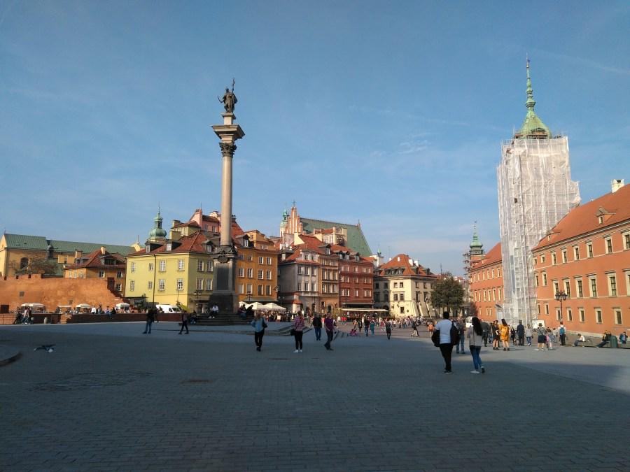 Qué ver en Varsovia. Columna de Segismundo y Palacio Real
