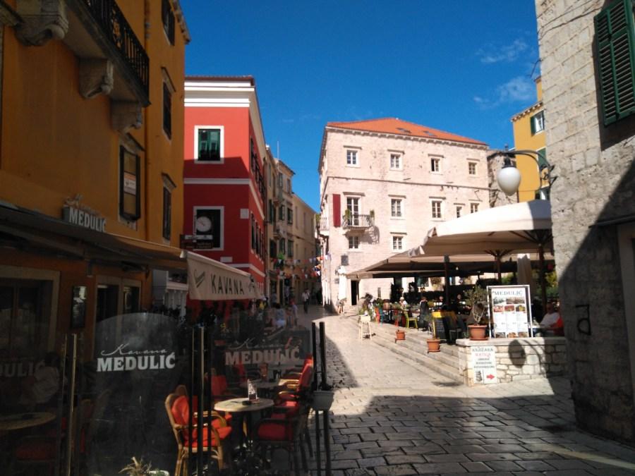 Sibenik y Trogir.Terracitas de Sibenik. Croacia.